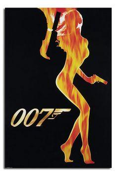007 James Bond - also LOVE James Bond movies! Sean Connery is the best though. Thème James Bond, James Bond Girls, James Bond Party, James Bond Theme, James Bond Goldfinger, James Bond Movie Posters, James Bond Movies, Original Movie Posters, William Boyd