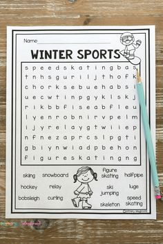 Winter Sports Free Printable Word Search Winter Olympics