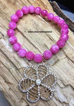 Bracelet en pierres semi précieuses. Bracelets, Creations, Beaded Necklace, Jewelry, Fashion, Stones, Bangle Bracelets, Jewlery, Fashion Styles
