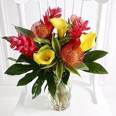 Tropical Bouquet With Free Express Delivery - from Lakeland