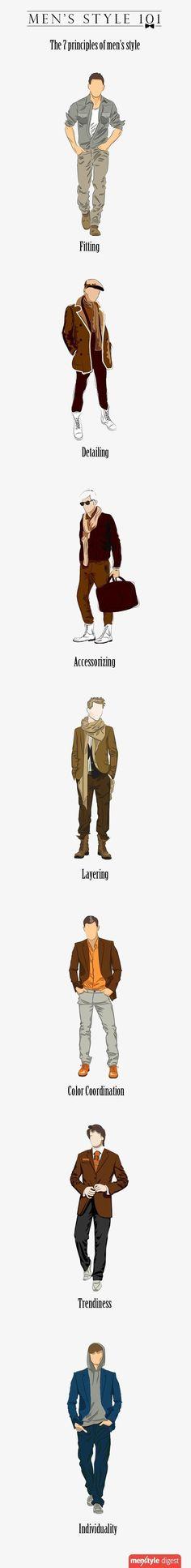 옷을 어떻게 입어야 할지 모르는 사람들에게 좋은 팁입니다. 7가지 팁이 있는데요 남자들의 스타일링을 하는데 도움이 많이 될 것 입니다. 사실 개인적으로는 컬러매치와 핏팅만 어느 정도 되면 스타일링에서 돋보일 것 입니다. 참고하면서 이러한 법칙만 잘 지켜준다면 센스있는 코디를 완성 할 수 있을 것 입니다.