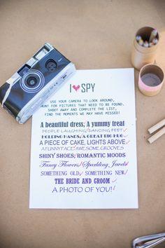 "Disposable Camera ""I Spy"" Wedding Game"