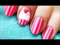 Sweet pink cupcake nail tutorial