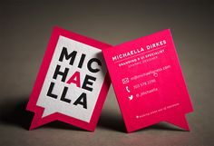 Letterpress business card with special die cut. Design by Michaella Dirkes.
