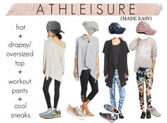 Athleisure! Simple formula for taking your workout clothes from the gym to the street.