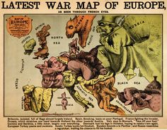 War Map of Europe: Seen Through French Eyes (1870) by Paul Hadol