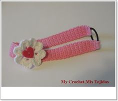 ♥ⓛⓞⓥⓔ♥ Headband -Tutorial. Make one of these to match the pretty white Valentine dress on my Crochet for Baby board. ♥