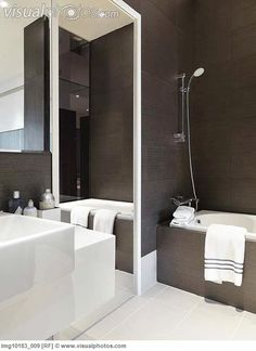 Brown And White Bathroom Tub Shower Combo Dream Bathrooms