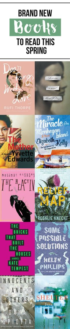 Ten new books to add to your Spring reading list!