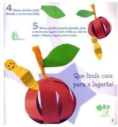 pomme en volume et vert