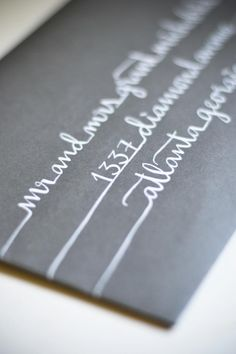 Invitation inspiration. Calligraphy | Little Byrd Lettering | #invite #envelope #addressing