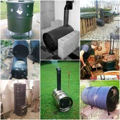 16 Ways To Build Your Own Barrel Heaters | Barrel heaters are a perfect way to provide heat to an off-grid home and to cook food.