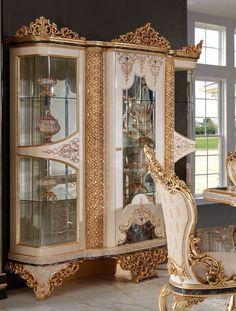 Luxury Dining Room, China Cabinet, Mirror, Storage, Buffet, Furniture, Home Decor, Purse Storage, Decoration Home