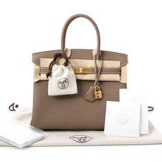 aaf4a37f184e New Women s Hermes Birkin Bag 30 Etoupe Togo Leather