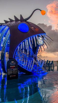 Harmony of the Seas   The Ultimate Adventure. Walk into the mouth of The Ultimate Abyss & take a journey nine decks down on the tallest slide at sea. Cruise with Royal Caribbean onboard the record-breaking Harmony of the Seas.