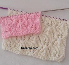 HAZIR ÖRGÜ GİBİ ÇOK ZARİF ÇEYİZLİK ÖRGÜ | Nazarca.com Baby Knitting Patterns, Knitting Stiches, Knitting Videos, Stitch Patterns, Grandparent Photo, Knit Vest Pattern, Wedding Dress Sleeves, Arm Warmers, Crochet Hats