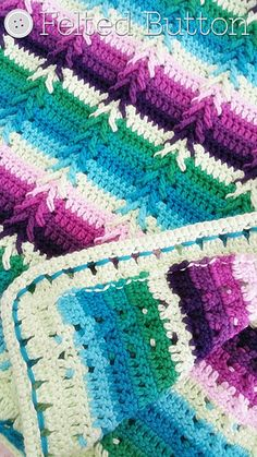 $5.50 With wonderful texture, an interesting but easy to repeat stitch pattern and color options galore, this blanket makes a perfect gift for baby or larger afghan for yourself.