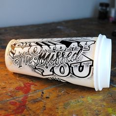 Amazing lettering on everyday objects by Rob Draper oh #monday i've missed you