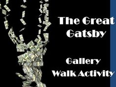 The Great Gatsby Gallery Walk: Writing and Image Analysis Activity-This is a gallery walk assignment for The Great Gatsby that requires students to view and write about images related to the novel. I have included two websites within the product that feature different images related to The Great Gatsby. $3.00