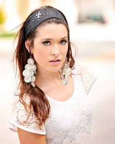 Slate Denim Cross headband - Baby Button Tops