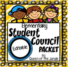 Everything you need to help you with your Elementary School Student Council. The forms, printables and other materials in this packet will help you stay organized and on top of your meetings, projects and fundraising. Student Council Activities, Student Council Posters, Student Council Ideas, Student Council Campaign, Leadership Activities, Elementary School Counseling, School Counselor, School Classroom, Elementary Schools