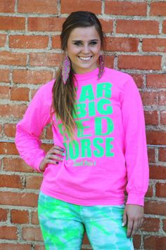 FEAR THE BIG RED HORSE (PINK LONGSLEEVE) - Ranch Dress'n