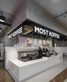 Most Koffee - Thailand Coffee Shop Interior Design, Coffee Shop Design, Restaurant Interior Design, Coffee Shop Bar, Best Coffee Shop, Coffee Shops, Cafe Concept, Small Cafe Design, Cafe Shop