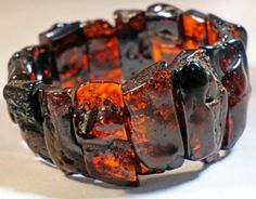 Antique Old Russian CHERRY BALTIC AMBER stretch by ANTIQUE4YOU