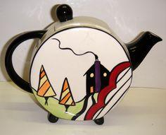 lorna bailey pottery teapot