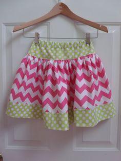 Chevron Skirt Girls Toddler  pink summer twirly skirt Riley Blake Chevron Fall Skirt Twirly Skirt Chevron Skirt Toddler Skirt.