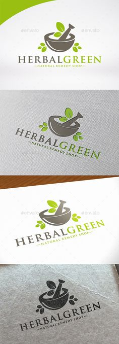 Herbal Pharmacy - Logo Design Template Vector #logotype Download it here: http://graphicriver.net/item/herbal-pharmacy-logo-template/12448235?s_rank=1443?ref=nexion