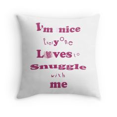 'Snuggle ~ Tiny Sweet Mice Line' Throw Pillow by We ~ Ivy Couple Look, Holiday Quote, Face Towel, Pillow Design, Cuddle, Mice, Hand Towels, Snuggles, Arrow