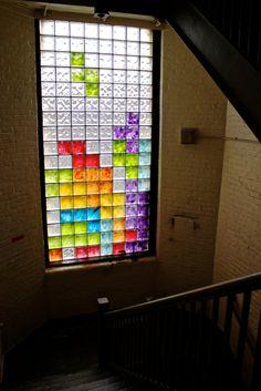 Tetris Stained Glass Window!