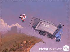 Excitement by Jason Kotecki. #art #painting #nintendo #excitebike #8bit #motorcycle