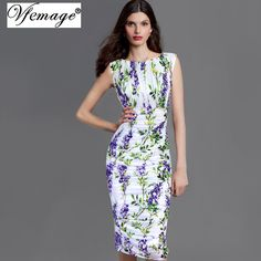 Vfemage Womens Elegant Summer Ruched Draped Floral Flower Printed Tunic Casual Party Bodycon Fitted Sheath Pencil Dress 2969 //Price: $40 & FREE Shipping //     #inspiration #lifestyle