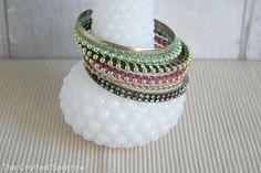 DIY Wrapped Chain Bracelets