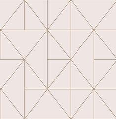 WonderWall Exclusive Wallpaper | Apex Prism Blush/Rose Gold | 41102