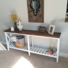 LOCAL SALE ONLY. Farmhouse console table. by MagnoliasandHARDWARE