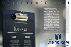 Sri Janakiram Hotel is a perfect venue for any #conference, #event or #occasion. we've also put together an expert yet approachable team experienced in managing events and dedicated to delivering the best service possible. For Booking Call : +91 462 2331941 -(10 Lines) We are ready to #serve you our #best.