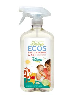 Baby ECOS™ Fruit & Veggie Wash is formulated to quickly lift dirt, wax, and oily residues from fruits and veggies. Even better, it rinses away quickly and thoroughly, so fruits and veggies keep their tasty goodness Fruit Veggie Wash, Baby Net, Baby Jogger, Baby Disney, Going Vegan, Spring Cleaning, Fruits And Veggies, Spray Bottle, Fresh Fruit