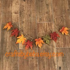 Autumn - Leaves Banner / Fall Banner / Harvest Banner / Leaves banner / Thanksgiving Decor Banner / Handmade and design with Fall colors