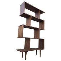 Mid Century Custom Book Case Shelving Unit
