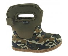 BABY BOGS WELLINGTON BOOTS INSULATED SIZE UK 3 - 8 BOYS OLIVE CAMO 71203