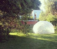 Build a Geodesic Dome Greenhouse - Main idea behind this design is to make construction cheap & easy. You would need: Wooden laths (cheapest kind) - amount depending on how big you want the dome Drill Some-kind ofpincers Fence wire (soft) Small clip/nail/clamp gun Saw Plastic film roll - about 8m x 2.5m Some thread and anchors (bricks) for stabilization Wide transparent tape 1-2liter Varnish & brush Color sticky markers (for ease of construction) Scissors &#x2