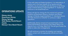 Disney has announced temporary closing dates for Walt Disney World Resorts, Disney Springs, Downtown Disney, and more. Disney World News, Disney World Hotels, Disney World Restaurants, Disney World Tips And Tricks, Walt Disney World, Disney Parks, Disney Resort Hotels, Disneyland Resort, Disney World Tickets