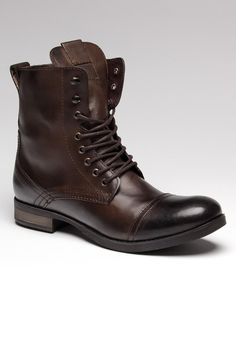 The Best Men's Shoes And Footwear : a proper boot-I so wish my man would wear these and dress according to the boot. Mens Shoes Boots, Shoe Boots, Men's Boots, Leather Boots For Men, Brown Boots, Dress With Boots, Dress Shoes, Lace Shoes, Style Hipster