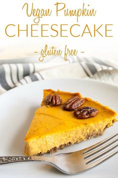 Business Cookware Ought To Be Sturdy And Sensible Creamy Vegan Pumpkin Cheesecake Gluten Free - This Decadent Creamy Vegan Pumpkin Cheesecake Is Sweet And Rich. Your Holiday Menu Needs This One On It Vegan Dessert Recipes, Gluten Free Desserts, Delicious Desserts, Cooking Recipes, Vegan Sweets, Lunch Recipes, Crockpot Recipes, Dinner Recipes, Gluten Free Cheesecake