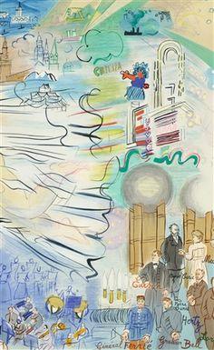 """1970 Vintage RAOUL DUFY /""""ELECTRICITY/"""" FABULOUS COLOR offset Lithograph"""