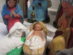 Nativity scene vintage nativity Christmas by cgraceandcompany