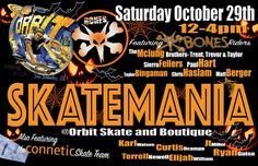 SKATEMANIA presented by #OrbitSkate  Come meet your favorite @boneswheels riders as well as the @conneticskate team!! #demos #contests and #prizes YOU DON'T WANT TO MISS THIS!  #boneswheels #conneticskate  #heshtags #skatelife #metrogrammed #baylife #thrashermag #skatecrunch #skidmarkskatemag #thankyouskateboarding #skateclipsdaily #20yearsbecauseofyou #supportskateboarding